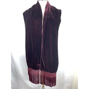 Charter Club Women's Scarf Burgundy Wine Velvet Si